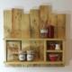 Gewürzregal Bauholzmöbel aus alten Paletten
