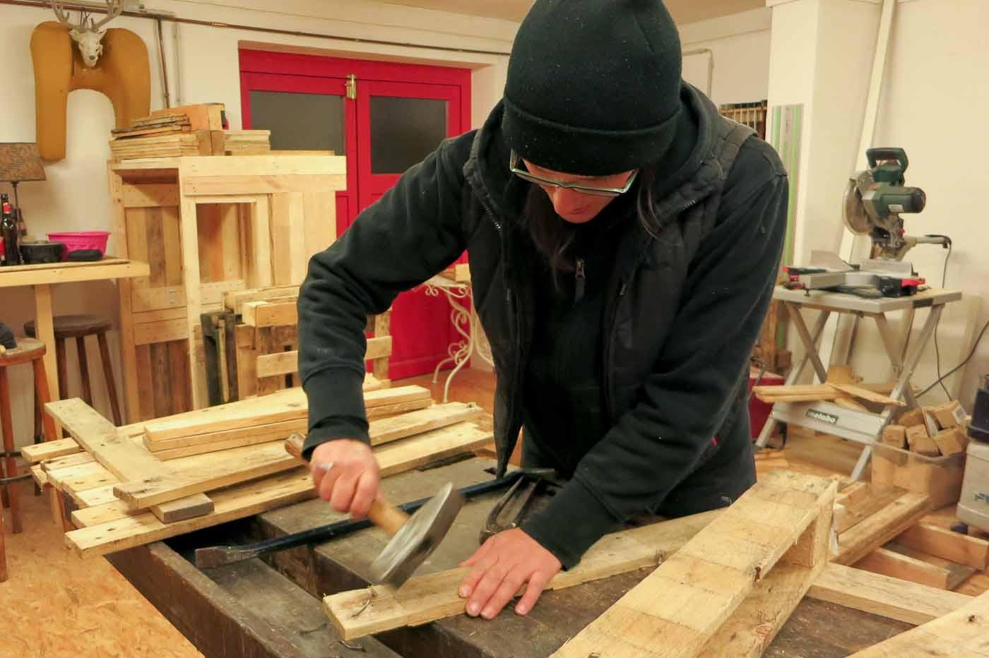 Palettenmöbel selber bauen Anleitung | Kellerherz