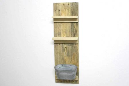 Badezimmer Regal Palettenholz Vorderansicht