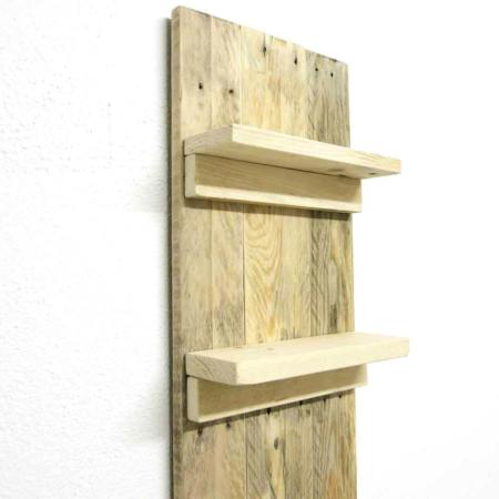Badezimmer Regal Palettenholz ohne Deko Detail