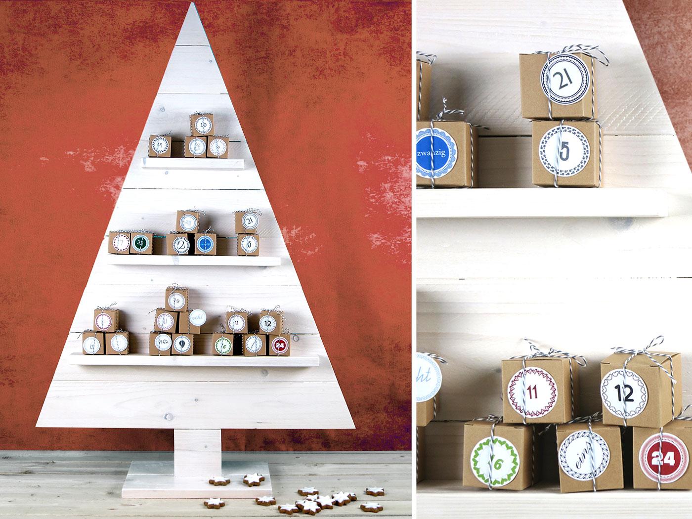 weihnachtsbaum basteln diy adventskalender kellerherz. Black Bedroom Furniture Sets. Home Design Ideas