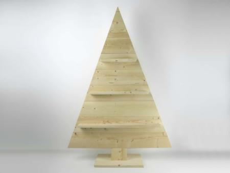 Holz Weihnachtsbaum roh ohne Deko