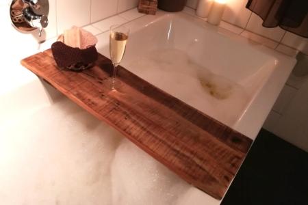 Badewannenablage Holz Ansicht oben