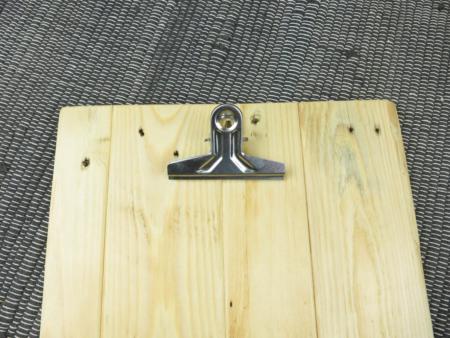 Klemmbrett Holz Detail