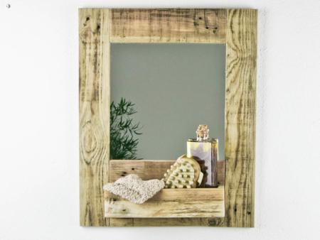 Spiegel Gäste WC Holz Deko