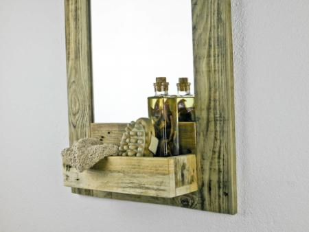 Seite Spiegel Gäste WC Holz