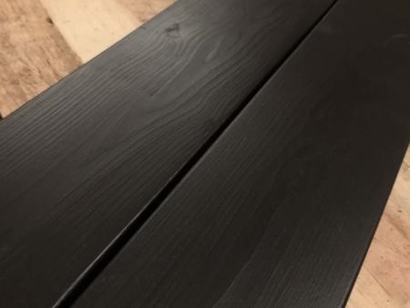 Badewannenablage Schwarz Holz Detail