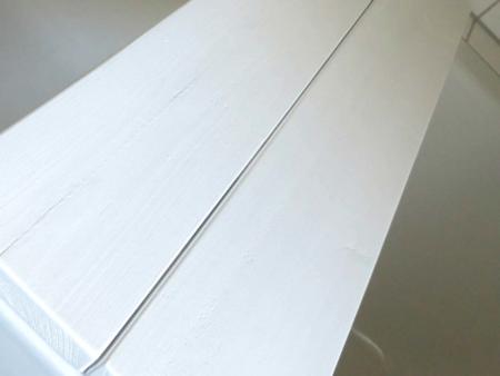 Badewannenablage Weiss Holz Detail