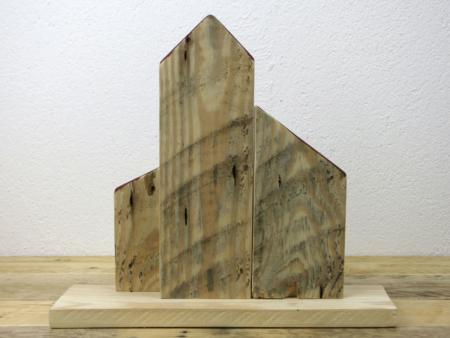 Holzhaus Deko Seitenansicht