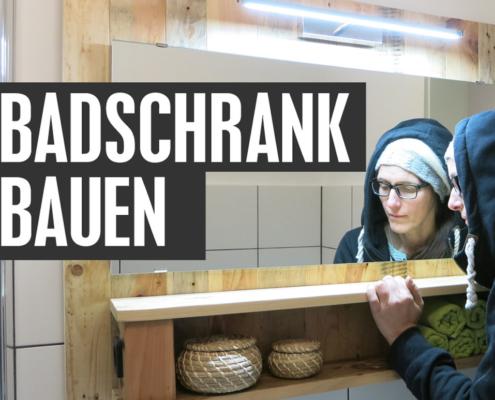Badschrank bauen DIY aus Altholz