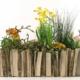 Blumenkasten aus Holz selbst gebaut und bepflanzt
