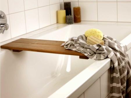 Badewannenablage nach Maß Holz Braun