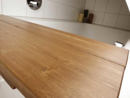Badewannenauflage Holz Detail