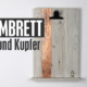 Klemmbrett aus Holz und Kupfer