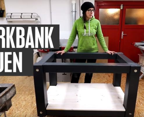 Werkbank bauen Arbeitsbereich im Bastelzimmer