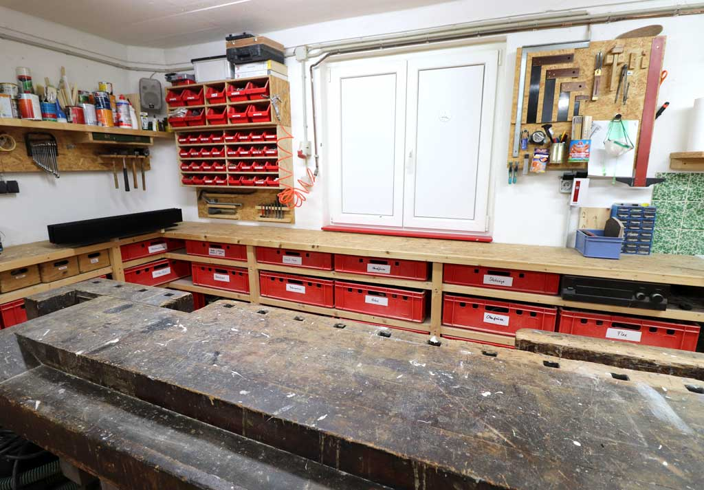 Werkstatt Umbau ist Zustand