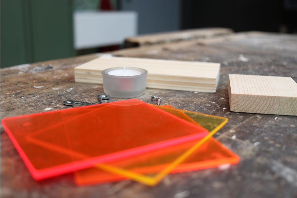 Materialbedarf Wandkonsole Acrylglas