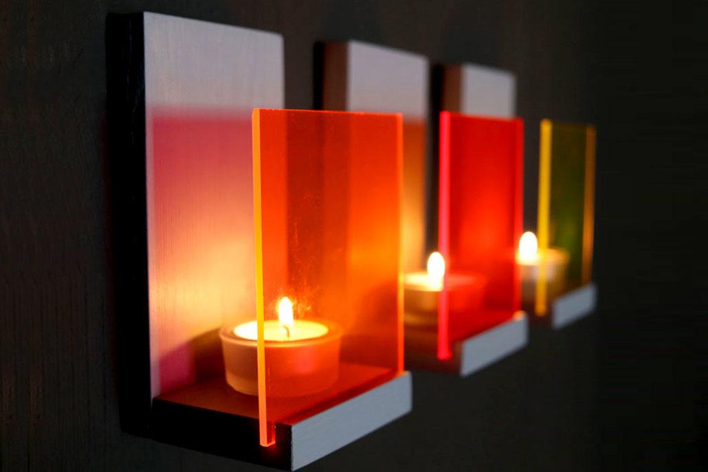 Wandkonsolen aus Acrylglas